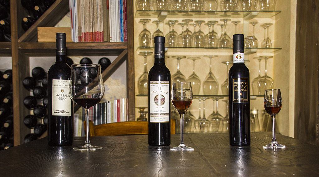 Wijnen en passito van Feudo di SanSeverino