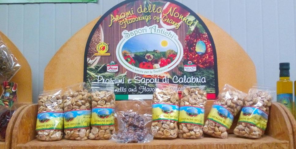 Kastanjes en andere traditionele Calabrische producten
